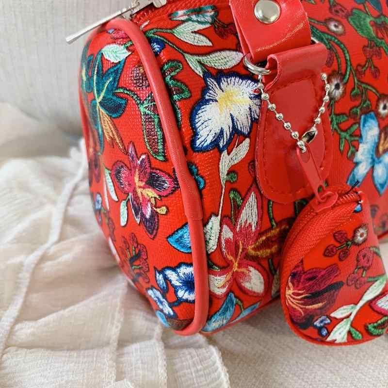ファッション花柄のショルダーバッグ女性のハンドバッグエレガントな女性トップハンドルバッグビーチ Pu レザースモールトートバッグ Bolsas feminina