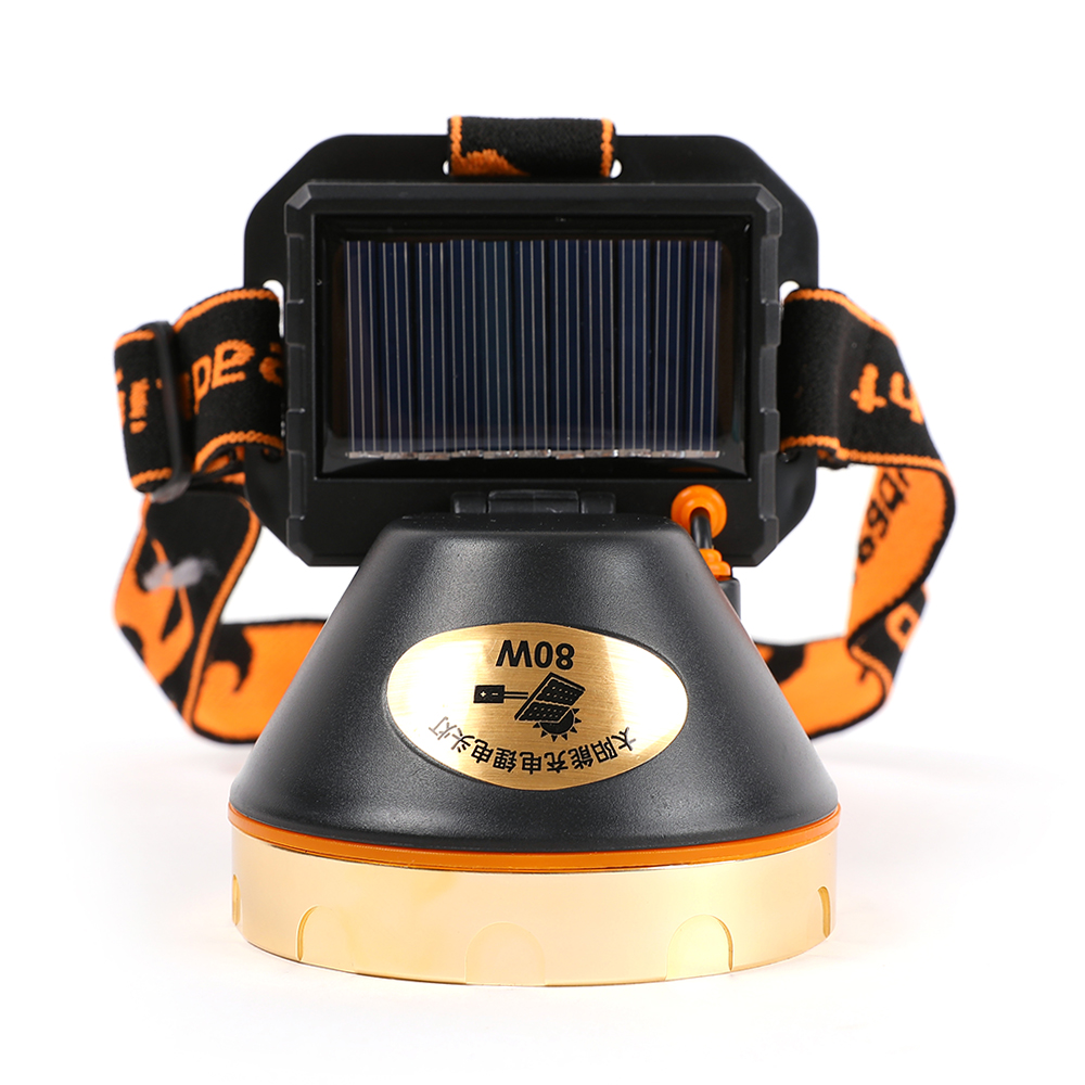 Image 4 - USB Solar Rechargeable LED Headlamp Flashlight Headlight with Emergency Power Bank Head Light 90 Degree Swivel Head for Camping-in Outdoor Tools from Sports & Entertainment