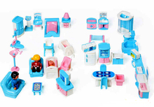 41pcs/set Educational Mini Miniature Furniture Toys Play Games Dolls Girls Boys Baby Children Dollhouse with exquisite package