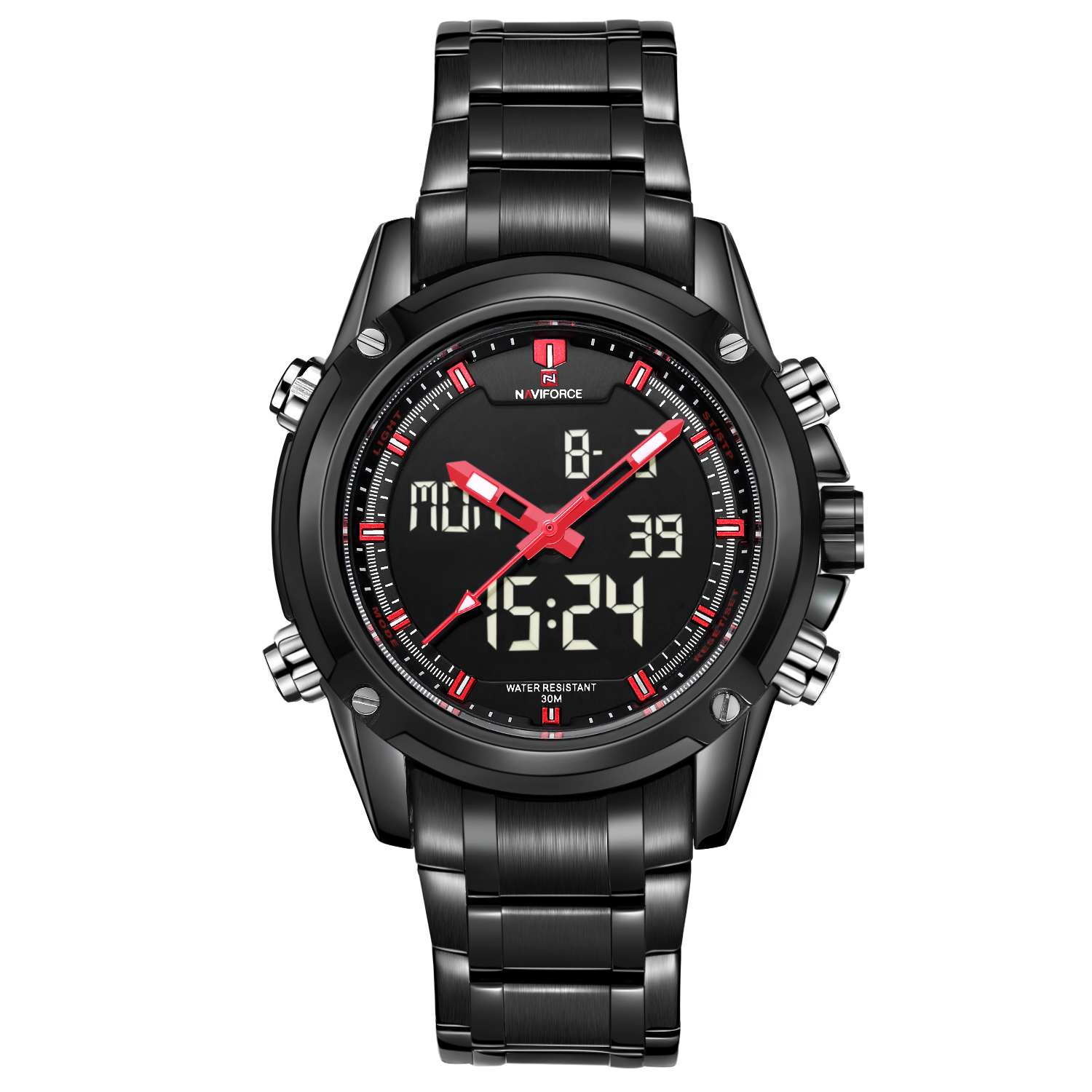 NAVIFORCE Watch Men Top Brand Luxury Digital Analog Sport Wristwatch Military Stainless Steel Male Clock Relogio Masculino 2019-in Quartz Watches from Watches on AliExpress - 11.11_Double 11_Singles' Day 1
