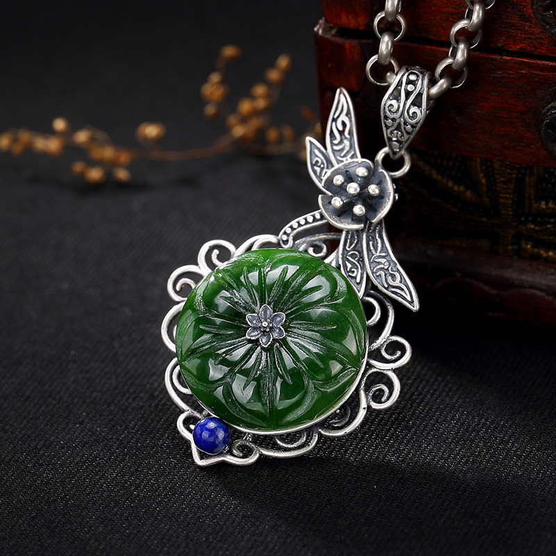 2018 Special Offer Direct Selling S925 Sterling Antique And Crystal Mosaic Lady High-end Sweater Chain Pendant Wholesale 2018 Special Offer Direct Selling S925 Sterling Antique And Crystal Mosaic Lady High-end Sweater Chain Pendant Wholesale