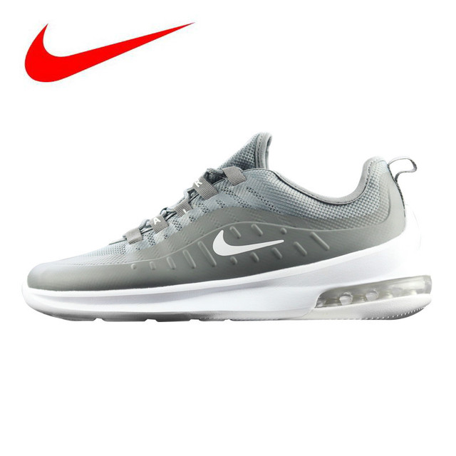 official photos 11ad0 7bddc Original Nike Air Max Axis Men s Running Shoes, Gray   White, Shock  Absorbent Breathable Lightweight Wear-resistant AA2146 002