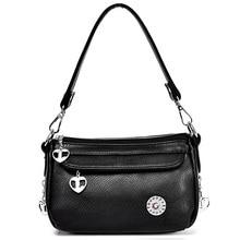 Trendy Fashion Echtes Leder Frauen Crossbody-tasche Rindsleder Handtaschen Hohe Qualität frauen Messenger Bags Schulter Bajan Handtasche