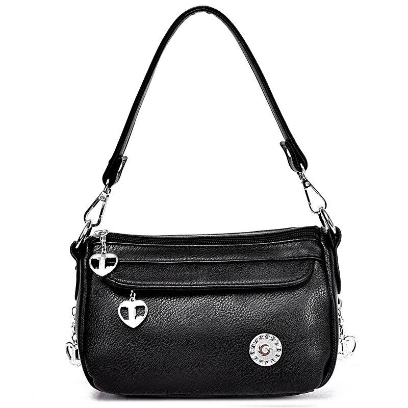 Trendy Fashion Genuine Leather Women Crossbody Bag Cowhide Handbags High Quality Womens Messenger Bags Shoulder Bayan Handbag