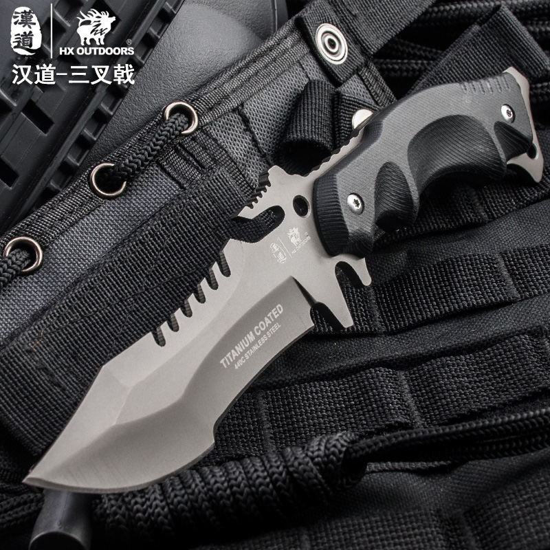 HX Outdoors Fishing font b Knife b font For Diving Hunting Camping Huntsman Tactical font b