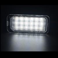 white light car 2x 18SMD White Error Free For Jaguar XJ X351 XF X250 2007-2015 Car Led License Plate Light Lamp For Ford Focus Kuga OEM Replace (2)