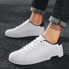 2018 Summer New Men Casual Shoes Breathable Wear Resistant Comfortable  White Round Toe Lace up Flat Snekaers 5