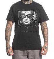 Sullen Men's Blown Away Black Hip Hop Skull Clothing Apparel Tops Quality T Shirts Men Printing Short Sleeve O Neck