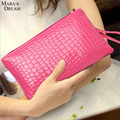 Mara's Dream 2016 Women Coin Purses PU Leather Zipper Solid Color Bag Key Ring Case Wallet Women Pouch Change Purse