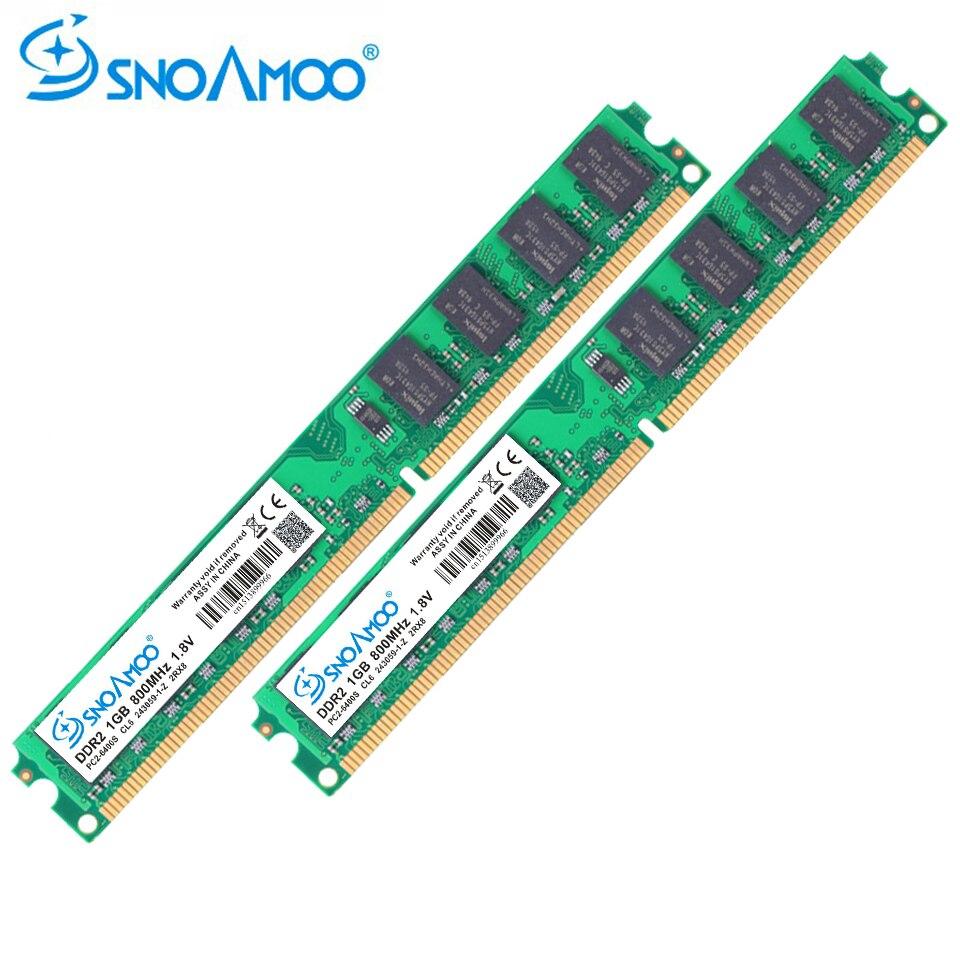 SNOAMOO Desktop PC RAMs DDR2 2 GB (2x1 GB) RAM 667 MHz 800 MHz PC2-6400S 240-Pin 1,8 V DIMM Für Kompatiblen Computer-speicher Garantie