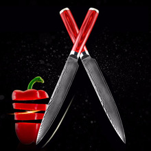 Free shipping LD new VG10 damascus knife 8 inch chef knife 71 layers japan damascus steel kitchen knives cooking tools