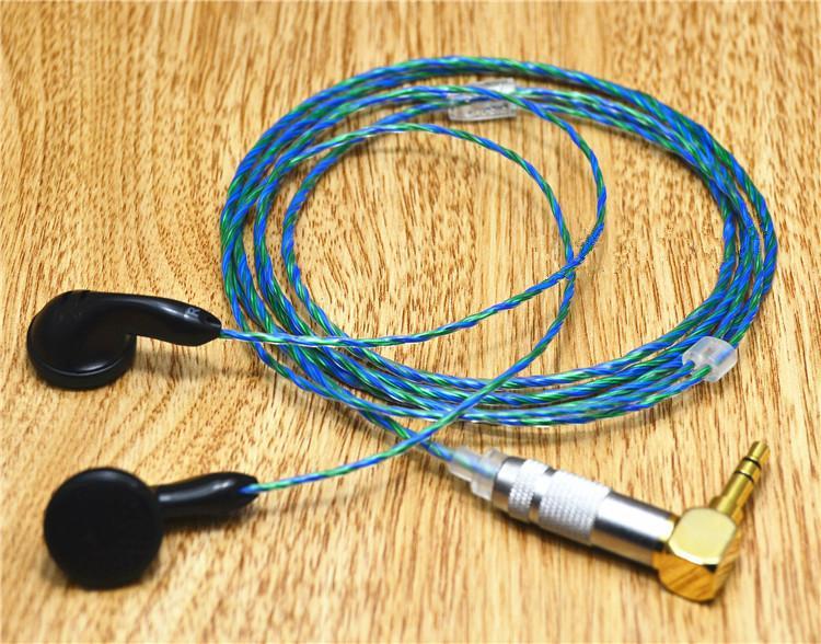diy earphone pk1 150ohms transparent film heart of ocean silver plated wire diy se535 earphone