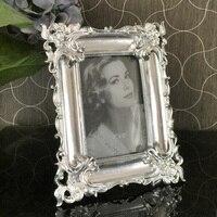 European style photo frame relief square Flanders retro gold pendulum frame 7inch