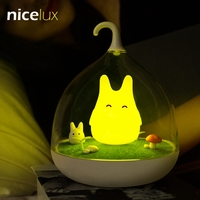 LED Birdcage Nightlight Vibration Touch Sensor USB Table Lamp Luminaria Rechargeable Battery Baby Bedroom Totoro Night