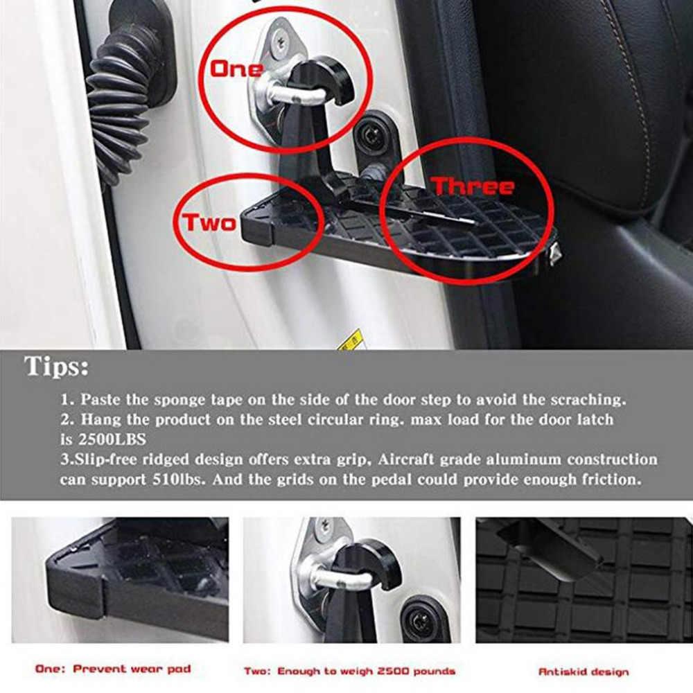 2 в 1 складной Автомобильный складной лестничный подножки легкий доступ к крышу автомобиля с молотком Безопасности для джипа автомобиля внедорожника дропшиппинг
