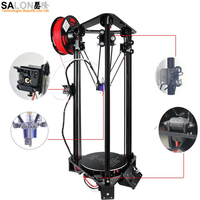 Kossel Delta 3D Printer Large Color Screen Size High Precision DIY Kit 3d Printer Machine Large Size D180*H320MM Laser Engraving