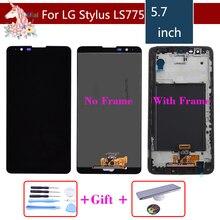 """5.7 """"oryginalny wyświetlacz do LG Stylus 2 K520 LS775 LCD ekran dotykowy z ramką K520 LS775 ekran montaż LCD kompletny zamiennik"""