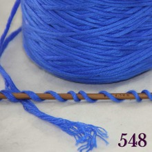 1X400g soft sell high quality 100% cotton hand-woven yarn Blue cone 422-546