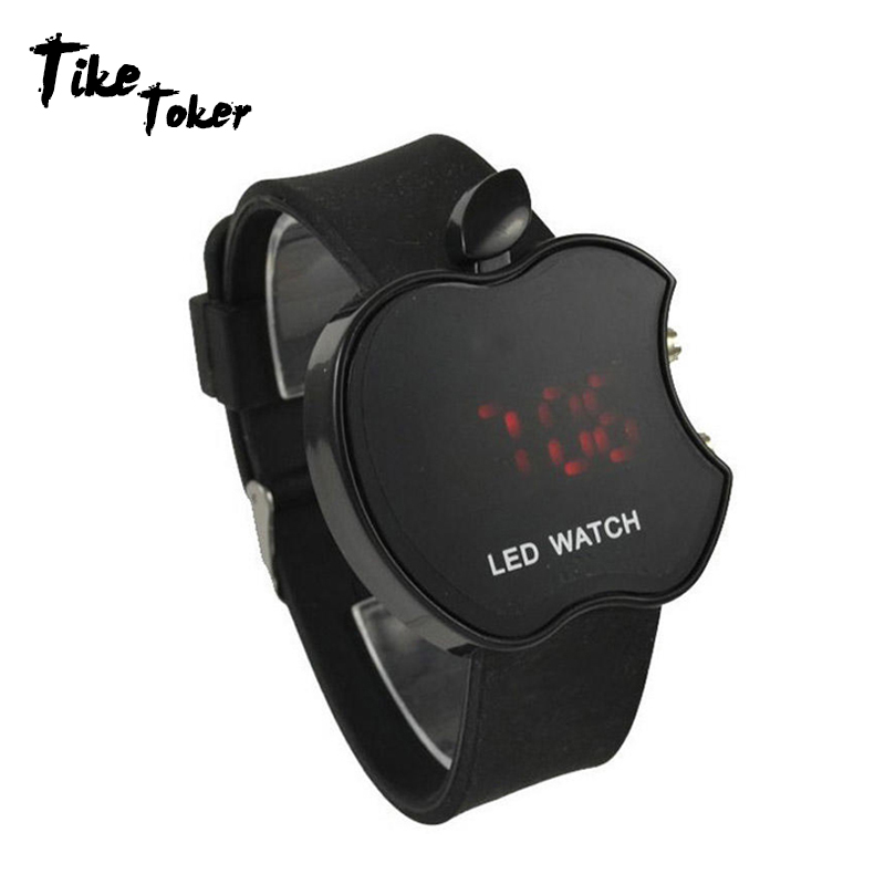 Trend Mark Tike Toker,led Womens Watch Fashion Apple Shaped Colorful Silicone Geneva Watch Clock Womens Sports Watch Relogio Feminino Latest Technology Watches Digital Watches