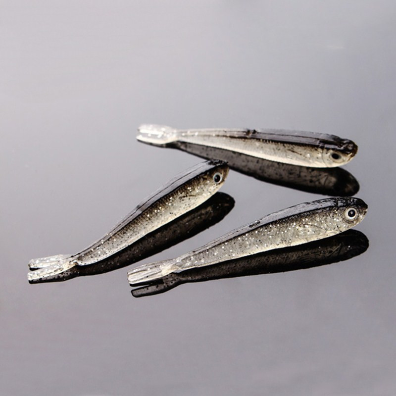 YeMuLang 7 CM 10Pcs / σετ Γκρι μαλακό σιλικόνης - Αλιεία - Φωτογραφία 4