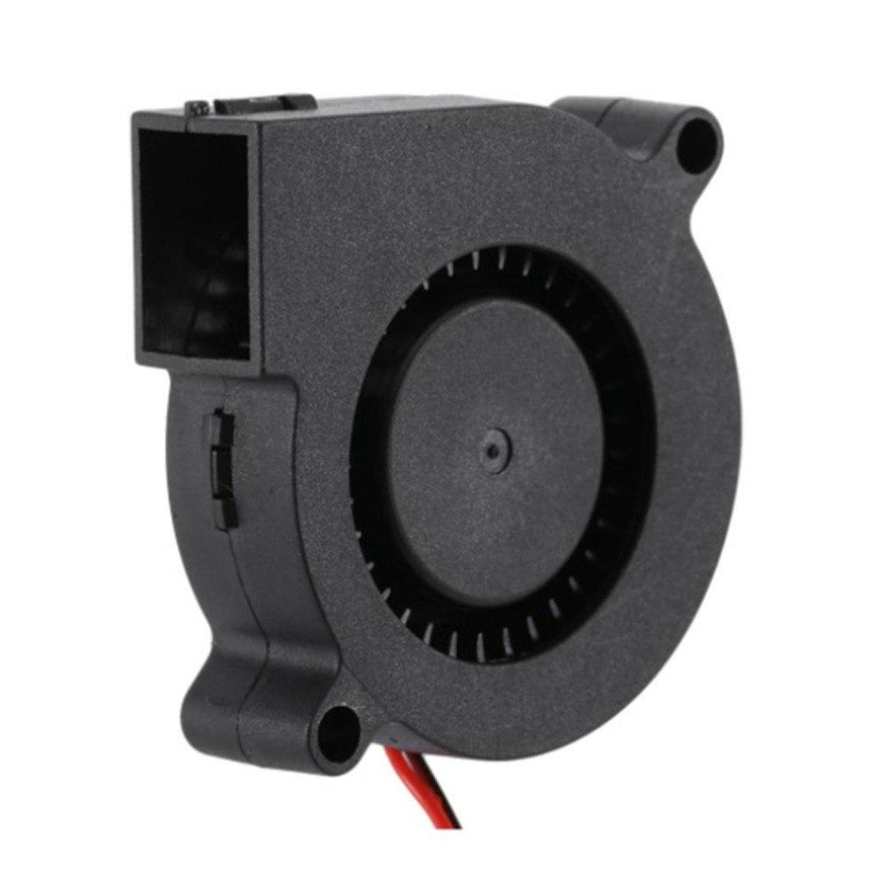 Radial Cooling Fan 3D Printer Fan Black 24V 0.1A 50mm DC Blower Turbo Fan Fix