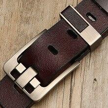 PKWYKLRE belt men leather male genuine strap luxury pin buckle belts for Cummerbunds ceinture homme