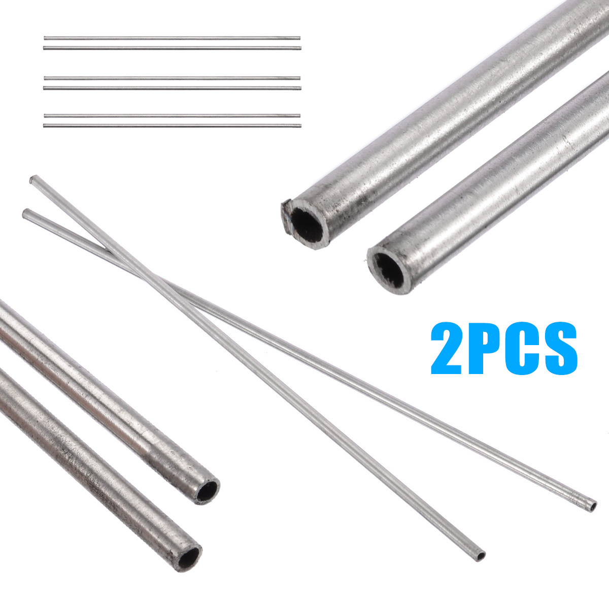 304 Stainless Steel Capillary Tube OD 4mm x 3mm ID Length 250mm Metal Tool NM