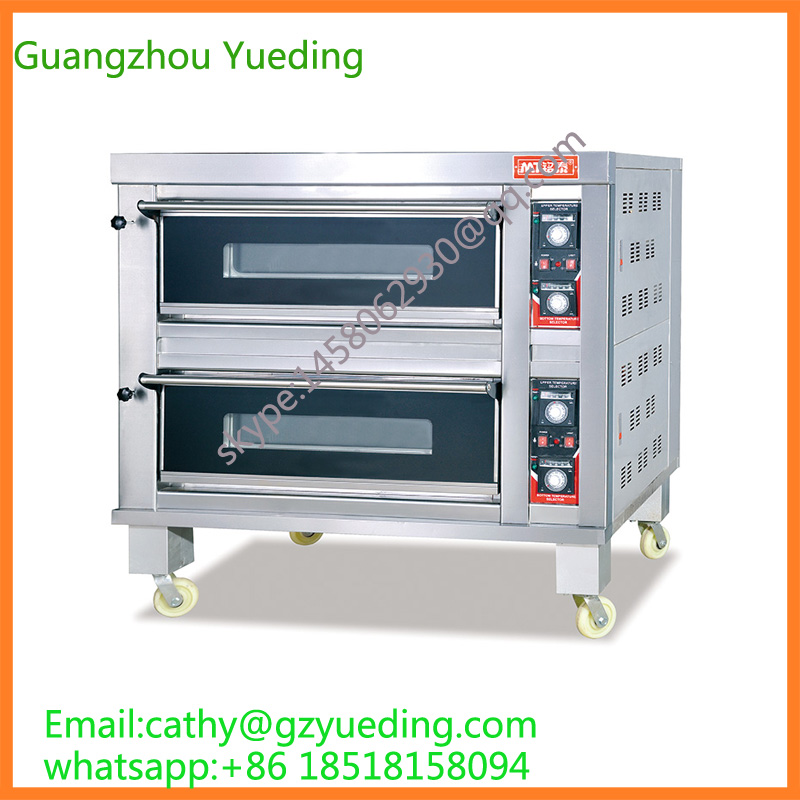 Commercial Used Kitchen Equipment 4 Trays Gas Pizza Oven