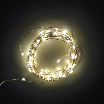 20 Pieces/Lot 2M/20Lights Silver Wire Battery LED Christmas Light String Very Bright For Party Weddi