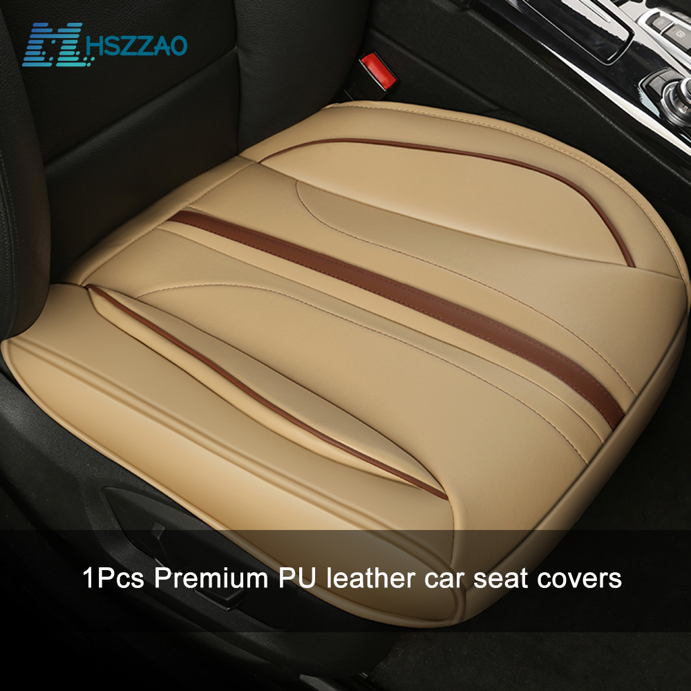 Beige Auto Car Taxi Rear Seat Covers Pad Mat For Auto Back Chair Cushion