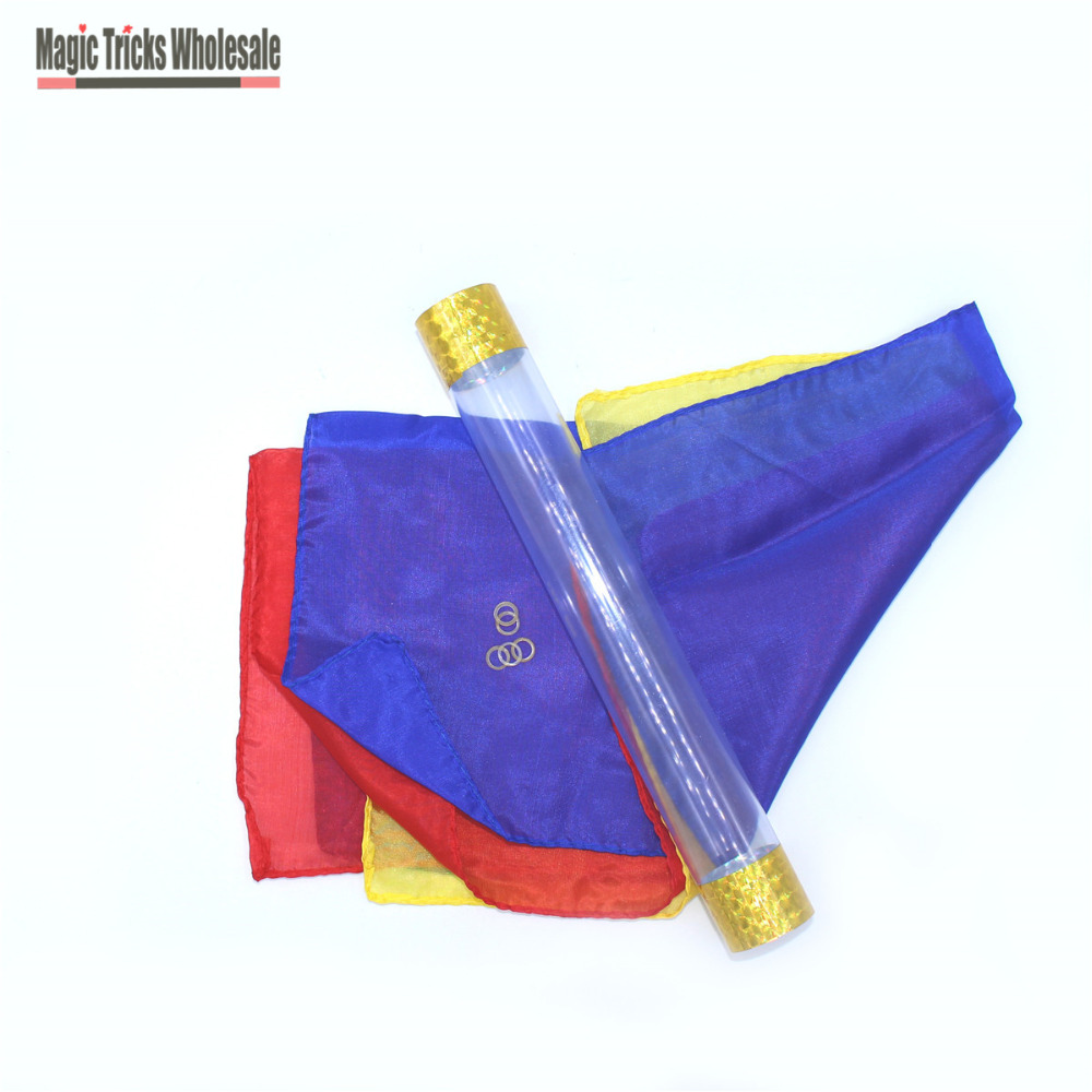 Toys & Hobbies Classic Toys Silk Thru Cane Stage Magic Magic Tricks Silk For Professional Magicians Streets Props Tools Funny Magic Toys For Kids Learning Factory Direct Selling Price