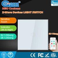 NEO COOLCAM Z Wave Smart Home Sensor Touch Light Panel 1 Gang EU Standard Wall Switch