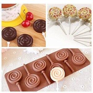 Image 3 - 1 pçs molde de silicone lollipop 9 tipos de bolo de chocolate fondant molde de biscoito geléia pudim moldes diy ferramentas de decoração do bolo de cozimento 20
