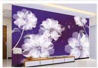 3d Wallpaper For Room White Flowers Background Wall 3d Wall Murals Wallpaper Living 3d Wallpaper