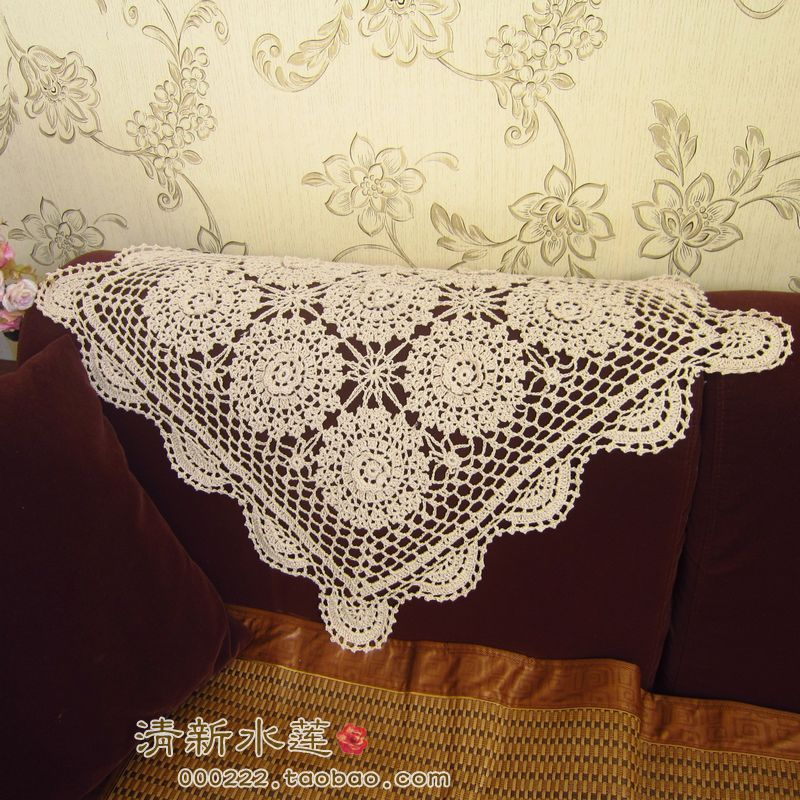 Crochet Sofa Back Cover