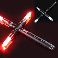 Световой меч бита силы тяжелого Dueling светодиодный световой меч с Foc блокировки металла Hilt Blaster Звук детей подарок
