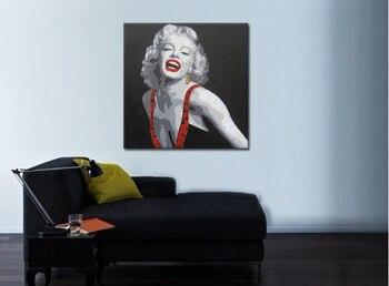 Marilyn Monroe Raumdekorationen | Hohe Qualität Leinwand Handgefertigte Ölgemälde Sexy Marilyn Monroe Bilder Wandkunst Für Wohnzimmer Büro Bar Dekoration