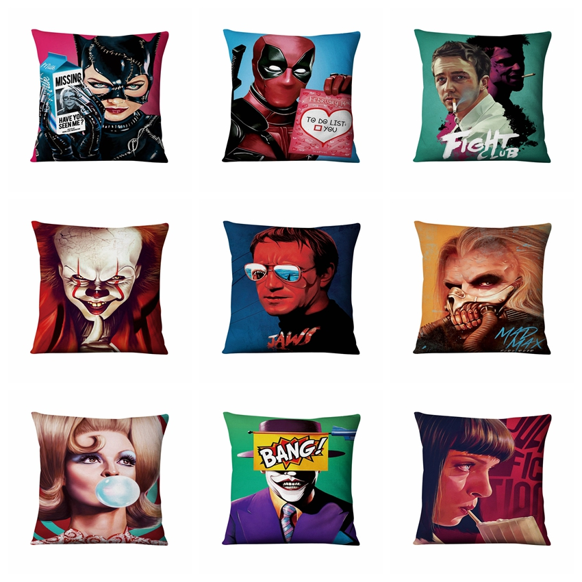 Super Soft Velvet Art Cushion Decorative Pillows Movie Posters Fight Club Home Pillow Decoration Sofa Throw Pillow 17*17inch