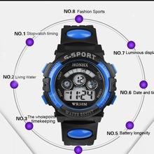 Waterproof Children Boy Digital LED Quartz Alarm Date Sports Wrist Watc