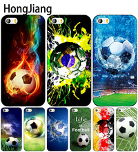 HongJiang football brazil germany sweden cell phone Cover case for iphone 6 4 4s 5 5s SE 5c 6 6s 7 8 plus case for iphone 7 X(China)