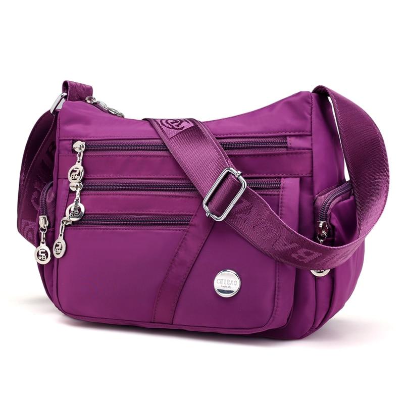 New Waterproof Nylon Handbags Women Messenger Bags Casual Female Shoulder Crossbody Bags Ladies Purse bolsa Hot Sale in Shoulder Bags from Luggage Bags