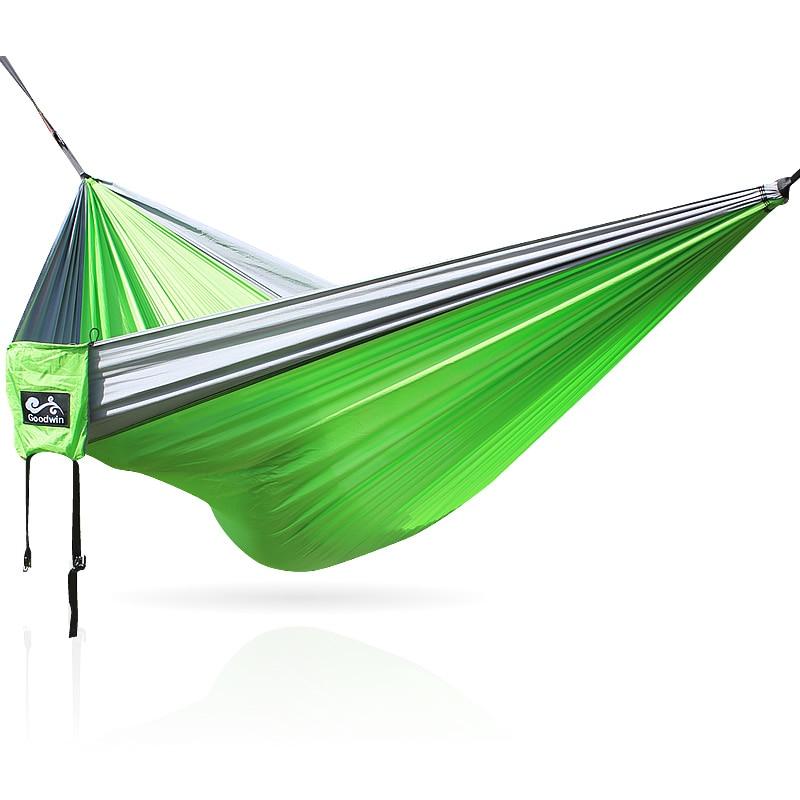 260x130cm portable high strength parachute fabric double person parachute hammock parachute hammock parachute hammock double muebles exterior