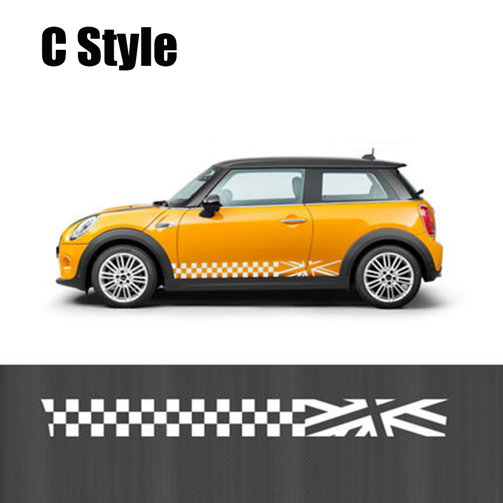 Side Skirt Body Car Decals Sticker For BMW MINI Cooper S One JCW - Bmw mini cooper decals