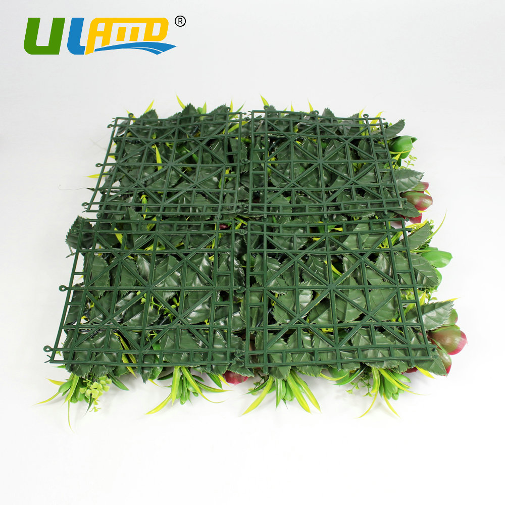 ULAND Künstliche Buchsbaumhecke Kunststoff Pflanzen Blätter Roten