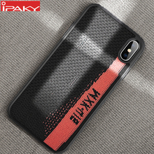 IPAKY Fabric Sports Style Case for iPhone Xs Shockproof Armor Soft Shell Silicone Hybrid X XR XS MAX