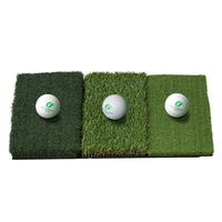 25in x 16in Mini Indoor Outdoor Mat Attack Tri Turf Portable Golf Hitting Mat With Differernt Grass 3 pcs Free Golf Ball