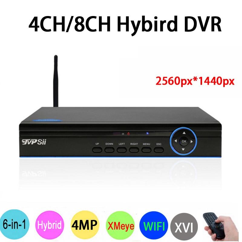 4MP, 1080 P, 960 P, 720 P безопасности Камера синий Панель Hi3520D Xmeye 4MP 4CH/8CH 6 в 1 Гибридный WI-FI CVI TVi NVR AHD DVR Бесплатная доставка