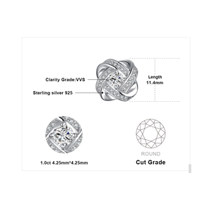 Image 5 - JewelryPalace אהבת קשר CZ Stud עגילי 925 סטרלינג עגילי כסף עבור נשים בנות קוריאני עגילי תכשיטים 2020