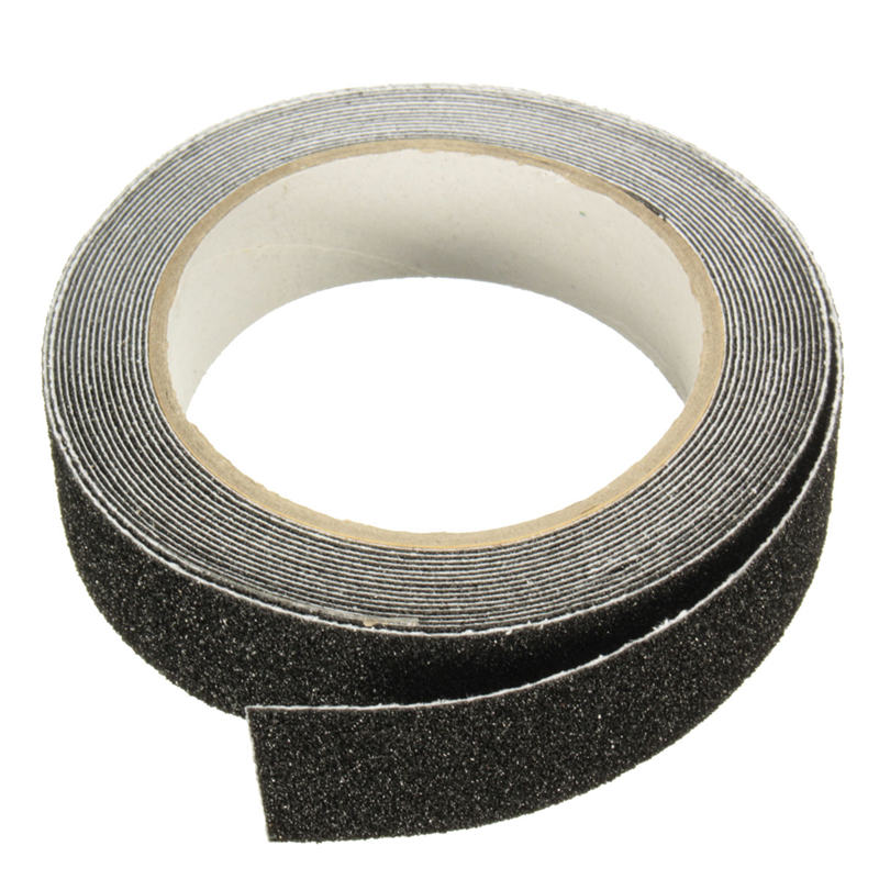 NEW Safurance 5m X 2.5cm Black Roll Safety Anti-slip Tape Non Skid Safe Grit Tape Grip Sticker Warning Tape