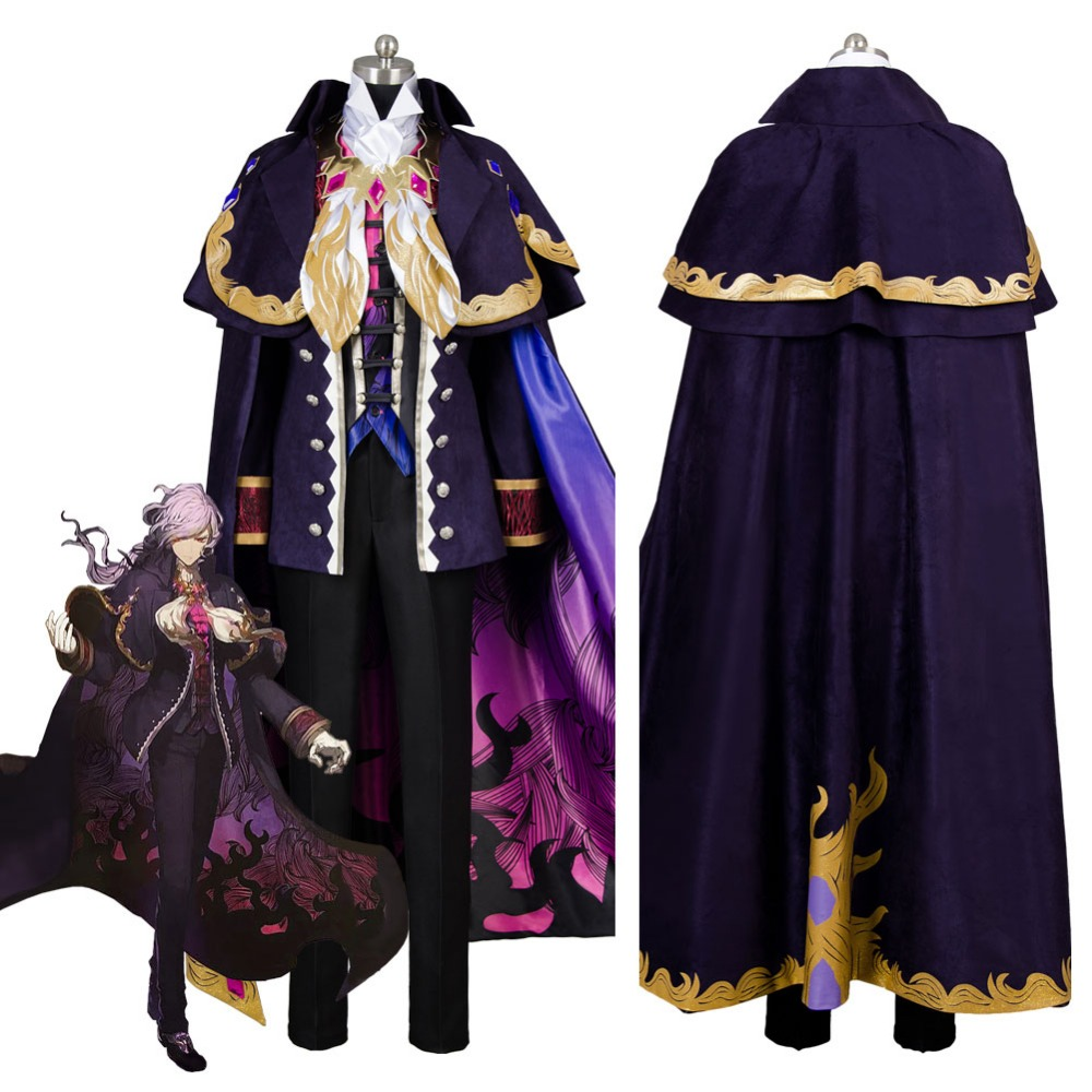 Fate Grand Order Monte Cristo Edmond Dantes Avenger Cosplay Costume For Adult Custom Made
